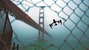 golden gate, drone, san francisco, Helen Hanson, high tech thriller novels
