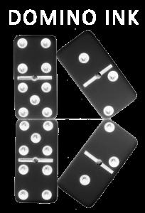 domino ink logo, helen hanson, thriller writer