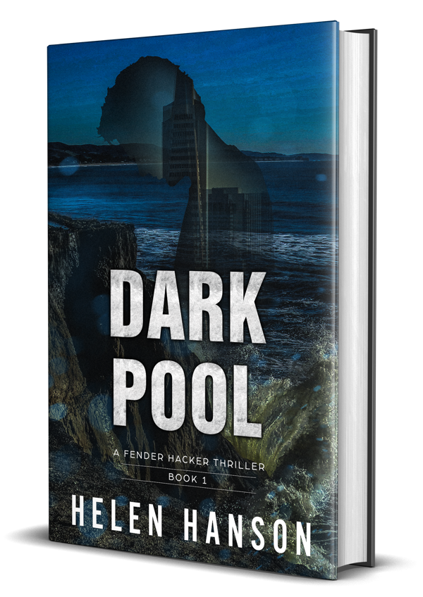 Dark Pool, Fender Hacker Thriller Series, techno thriller, alzheimers, cyber crime, hackers, heist thrillers, female protagonist suspense thriller, technothrillers